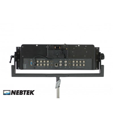 NEBTEK SmartView Duo Bracket with Anton Bauer Battery Adapter