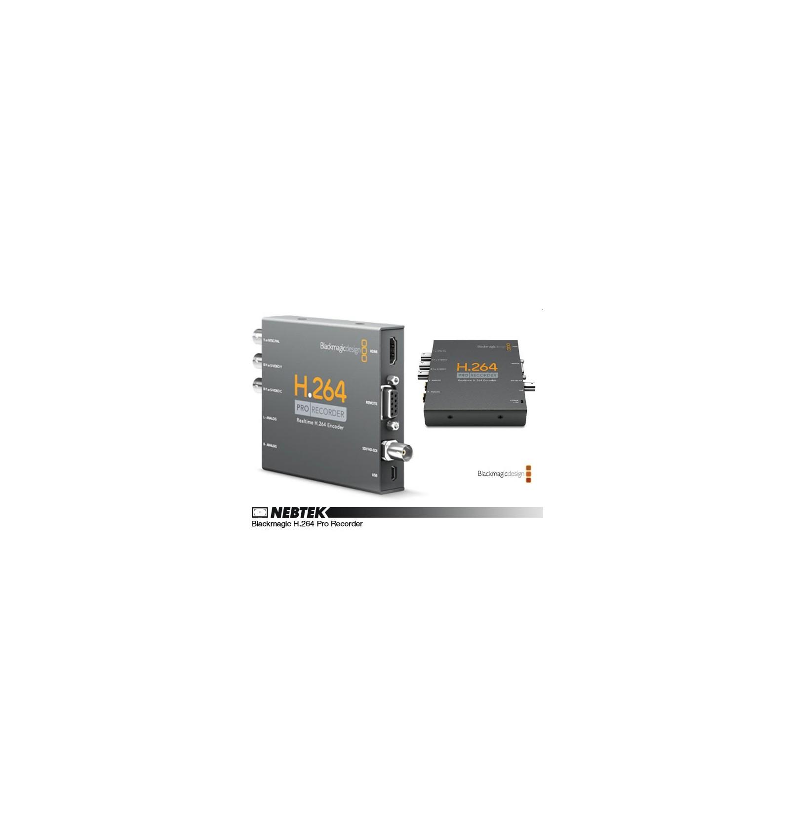 Blackmagic H 264 Pro Recorder Nebtek 3d Hd 4k Video Assist Specialists